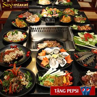 Tiệc Buffet Tất Niên Nướng Lẩu Singapore Tại NH Sing Royal City - Free Pepsi Tươi