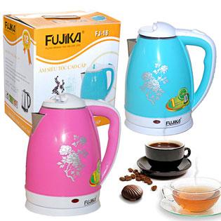 Bình Đun Siêu Tốc Inox Bọc Nhựa Fujika